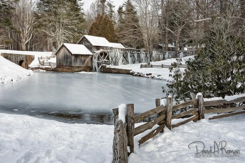 Mabry Mill Winter