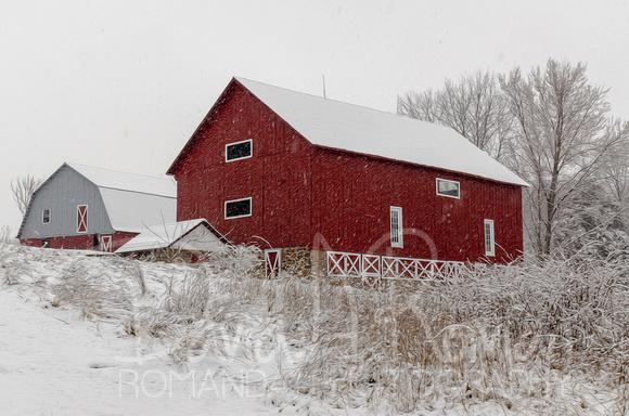 Snowy Barns